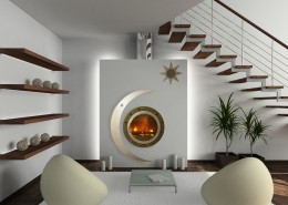 3D render modern interior of living-room - France Turbo